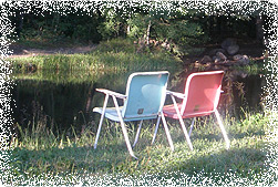 Chairs by the Pond